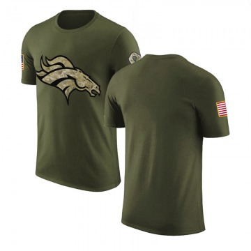 Men's Blank Denver Broncos Olive Salute to Service Legend T-Shirt