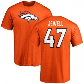 Men's Josey Jewell Denver Broncos Name & Number Logo T-Shirt - Orange