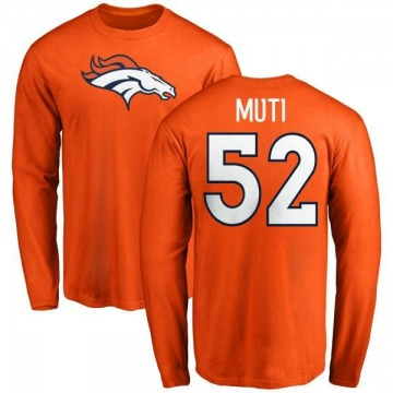 Men's Netane Muti Denver Broncos Name & Number Logo Long Sleeve T-Shirt - Orange