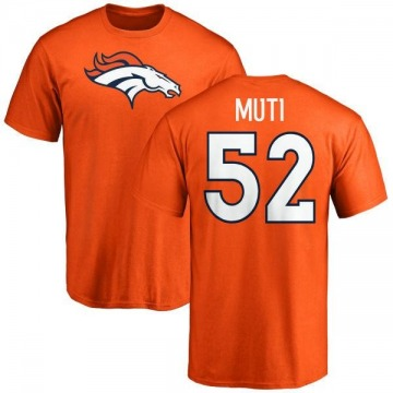 Men's Netane Muti Denver Broncos Name & Number Logo T-Shirt - Orange