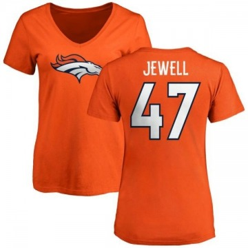 Women's Josey Jewell Denver Broncos Name & Number Logo Slim Fit T-Shirt - Orange