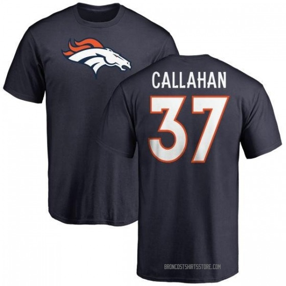 info for d6ac1 7535f Youth Bryce Callahan Denver Broncos Name & Number Logo T-Shirt - Navy