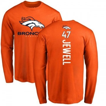Youth Josey Jewell Denver Broncos Backer Long Sleeve T-Shirt - Orange