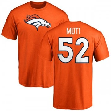 Youth Netane Muti Denver Broncos Name & Number Logo T-Shirt - Orange