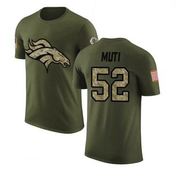 Youth Netane Muti Denver Broncos Olive Salute to Service Legend T-Shirt