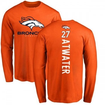 Youth Steve Atwater Denver Broncos Backer Long Sleeve T-Shirt - Orange